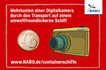 Mehrkosten für eine Digitalkamera bei Transport mit einem umweltfreundlicheren Containerschiff