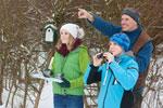 Vogelbeobachtung im Winter