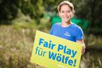 Anna Blässe unterstützt den NABU bei seinem Engagement für die Rückkehr des Wolfes.