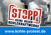 Kohle-Protestaktion