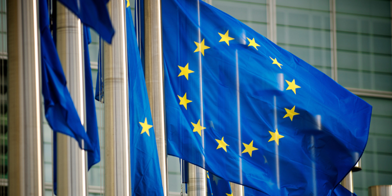 Flaggen vor der EU-Kommission. - Foto: Getty Images/PeskyMonkey