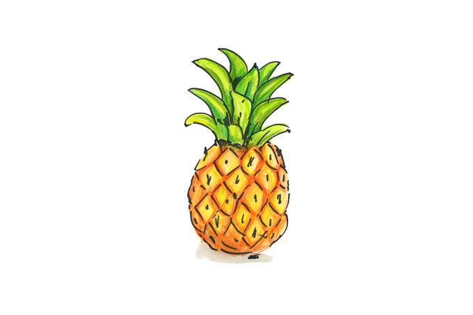 Illustration einer Ananas.