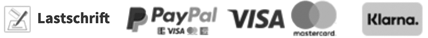 Logos Zahlungsanbieter für Spenden