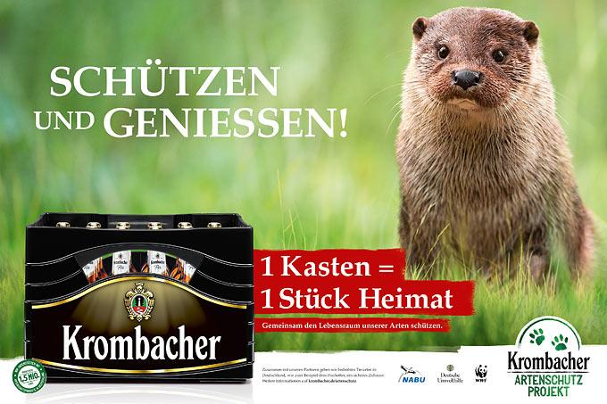 Werbeplakat Krombacher Artenschutz-Projekt - Foto: obs/Krombacher Brauerei GmbH & Co.