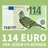 114 Euro - Feldlerchen-Motiv