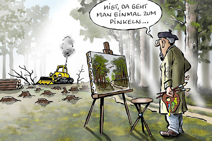 Siegercartoon SpeicherWald - Grafik: Frank Bahr