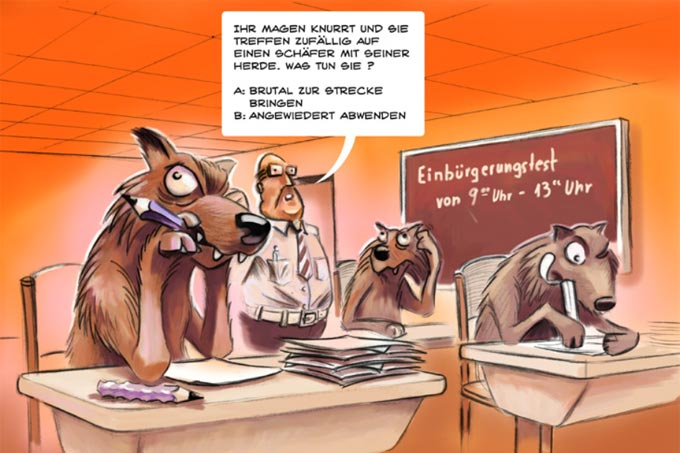 Wolfscartoon - Foto: Markus Wilke