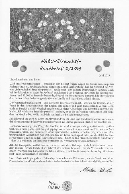Nabu Streuobst Rundbrief