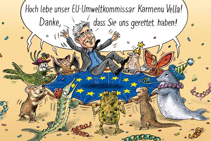 EU-Naturschutzrichtlinien bleiben erhalten - Illustration: Fred Fuchs
