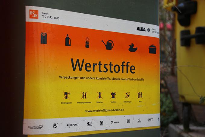 Wertstofftonne - Foto: NABU/E. Neuling