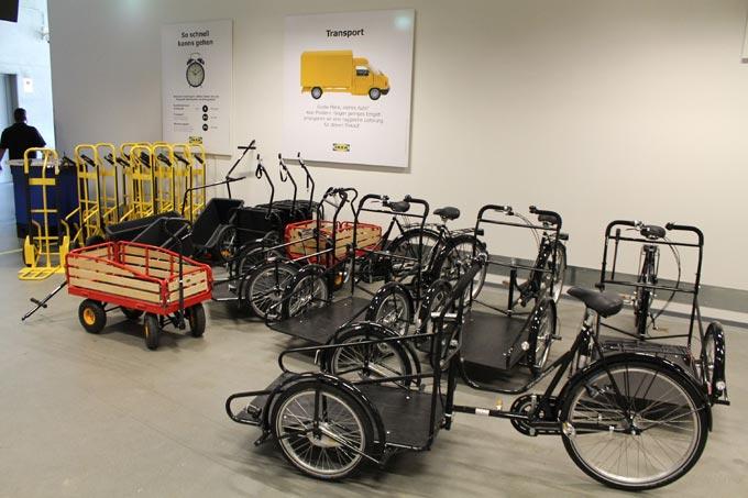 Lastenräder bei Ikea - Foto: Ikea
